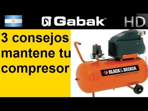Mantenimiento de compresores de aire black decker