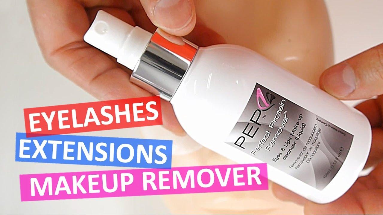 Eye makeup remover eyelash extensions
