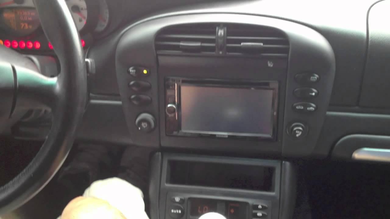 2002 Porsche Carrera Double Din Radio And 5 Channel Amp