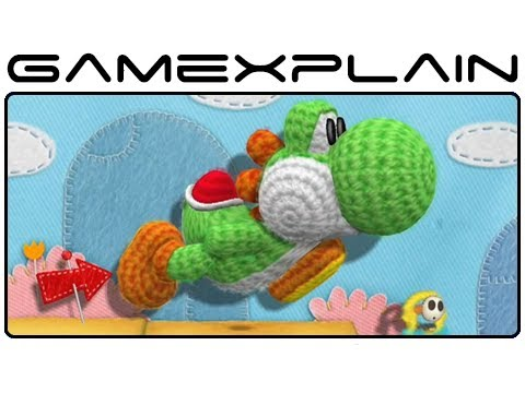Yarn Yoshi Wii U - Gameplay Footage (High Quality!)