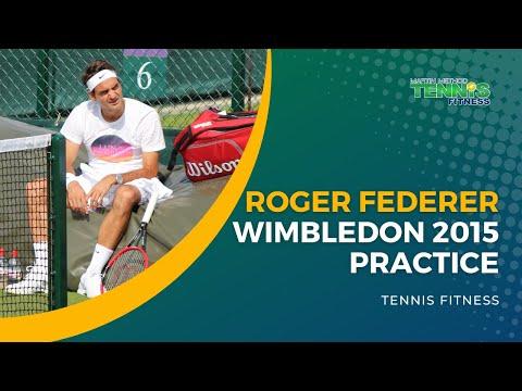 Roger Federer Wimbledon 2015 Practice