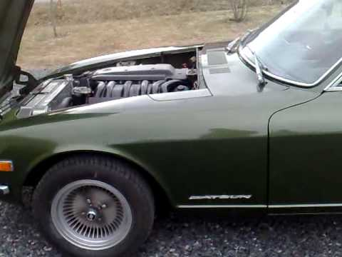 datsun 240z with mercedes om606 turbodiesel . holset hx40super . mb 722.3 automatic....