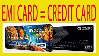 Bajaj finanace EMI card is like credit card | EMI card   | credit card   |  Bajaj finanace EMI card