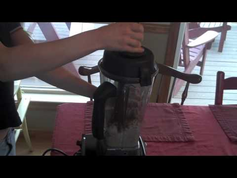 Making Almond Butter in Vitamix blender (oil free)