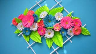 Paper Flower Wall Hanging.  DIY Hanging Flower - Wall Decoration ideas