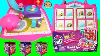 Shopkins Vacation At Gift Ems Hotel and Spa Playset with Water Pool + 5 surprise Blind Bag Presents
