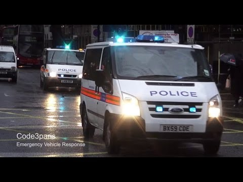 London Metropolitan Police Vans  (X2) Get Lost and Come Back