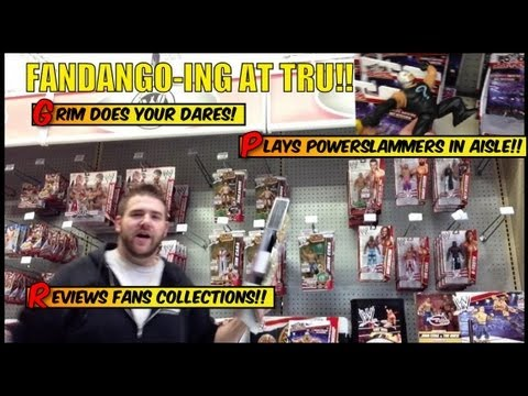 Grim's Toy Show Episode 456: playing GTS in ToysRus Wrestling Figures Aisle Fandango WWE collection