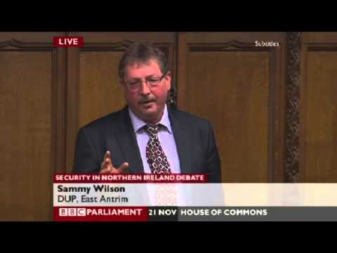 Sammy Wilson   Security Debate   House of Commons