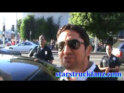StarStruckFanz.com sees and talks with actor Gerard Butler
