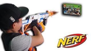 NTN - Thử Thách Bắn Súng Nhận Quà (Shooting nerf guns to recive gift challenge)