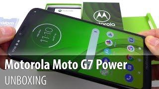 Motorola Moto G7 Power Unboxing and Short Review (5.000 mAh Battery Phone)