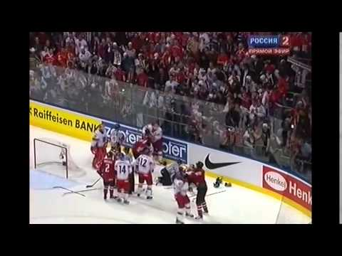 Канада Чехия ЧМ2010  Драка