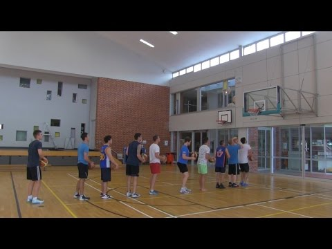 The 10 Person Basketball Trick Shot