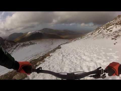 Riding Snowdon Llanberis path winter 2014