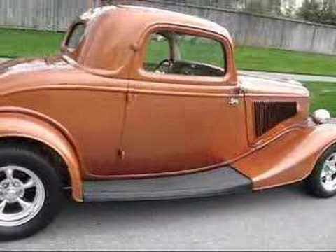 1934 ford 3 window coupe hotrod youtube for 1934 ford three window coupe for sale
