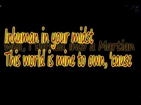 i turned to a martian (lyrics)