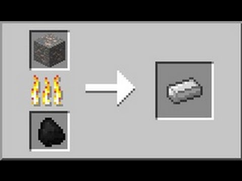 Как создать слитки железа в minecraft