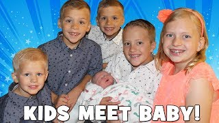 Kids React to Meeting Baby Owen - Heading Home From the Hospital!
