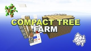 Minecraft - Automatic Compact Tree Farm // Baumfarm - Tutorial 1.12