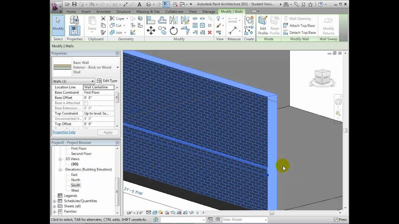Revit Architecture Modeling Exterior And Interior Walls