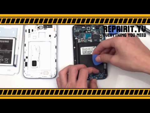 Samsung Galaxy Note 2 Touch Screen Digitizer Flex Cable Connector REPAIR and DISASSEMBLY TUTORIAL