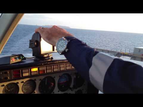 Offshore Marine Pilot transfer in a Bell 206 Longranger