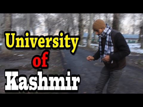 KASHMIR TRAVEL VIDEO - Motorcycle Tour Around UNIVERSITY OF KASHMIR (in winter)
