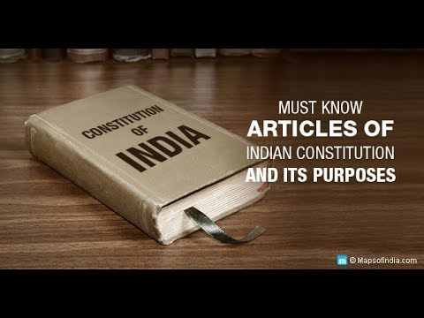 Important Articles of Indian Constitution by Vidya Guru Education