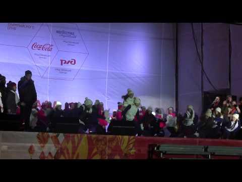 Эстафета олимпийского огня в Ростове-на-Дону