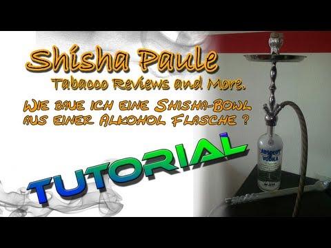 wie baue ich eine shisha bowl aus einer alkohol flasche tutorial 4 5 l absolut vodka shisha. Black Bedroom Furniture Sets. Home Design Ideas