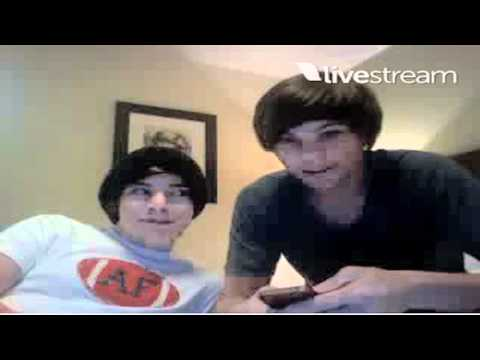 Harry Styles and Louis Tomlinson Twitcam part 1