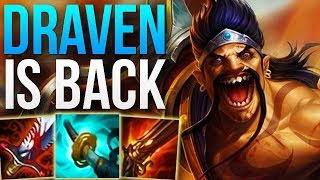DRAVEN IS BACK IN THE META! - CRAZY DAMAGE | CHALLENGER DRAVEN ADC GAMEPLAY - Patch 8.13 S8