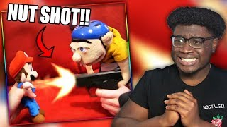 JEFFY SHOOTS MARIO IN THE B@LLS! | SML Movie: Jeffy's TV Show Reaction!