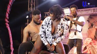 Sista Efia 'Grinds' man on stage at Infinix HOT 8 launch
