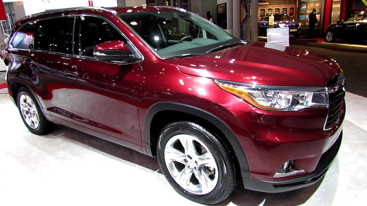 2014 toyota highlander limited awd exterior and interior walkaround 2013 new york auto show