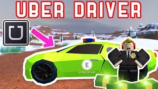 Being an Uber / Taxi Driver in Jailbreak! - Roblox Jailbreak Roleplaying