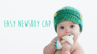 CROCHET TUTORIAL - NEWSBOY CAP