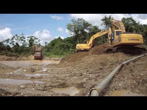 Excavadoras Hidráulicas Trabajando en Minería