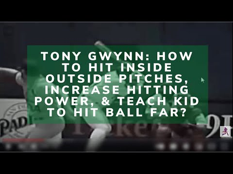 Tony Gwynn Hitting Strategy, It's Never Too Late!