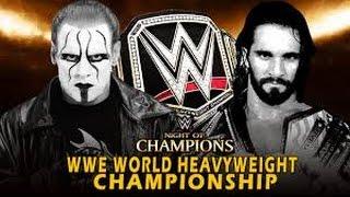 Seth Rollins vs Sting l Night of Champions 2015 l Combates WWE