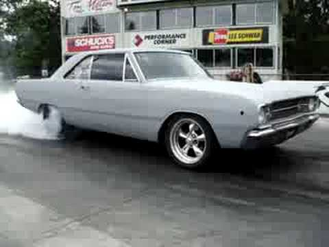 68 dodge dart mopar turbo burnout