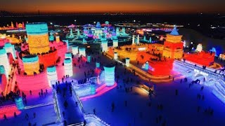THIS CHINA ICE CITY WILL BLOW YOUR MIND ❄️️ DRONE VLOG || Harbin Ice Festival in China