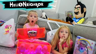 Hello Neighbor is Back!!! Hatchimal Pixies Toy Scavenger Hunt & Our Baby Disappears!!!