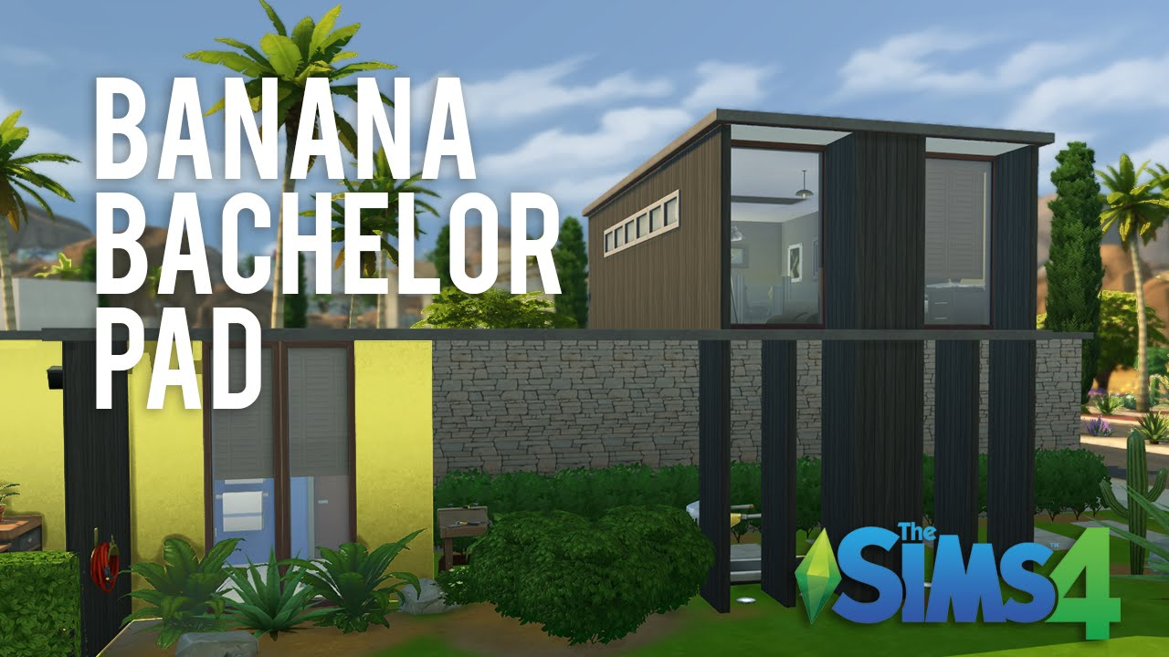 The Sims 4 Speed Build Banana Bachelor Pad Youtube