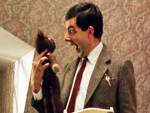Mr Bean - Hotel room is home from home