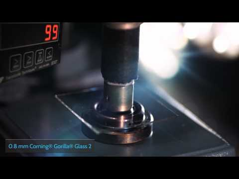 How tough is Corning® Gorilla® Glass 2? Corning puts it to the test.
