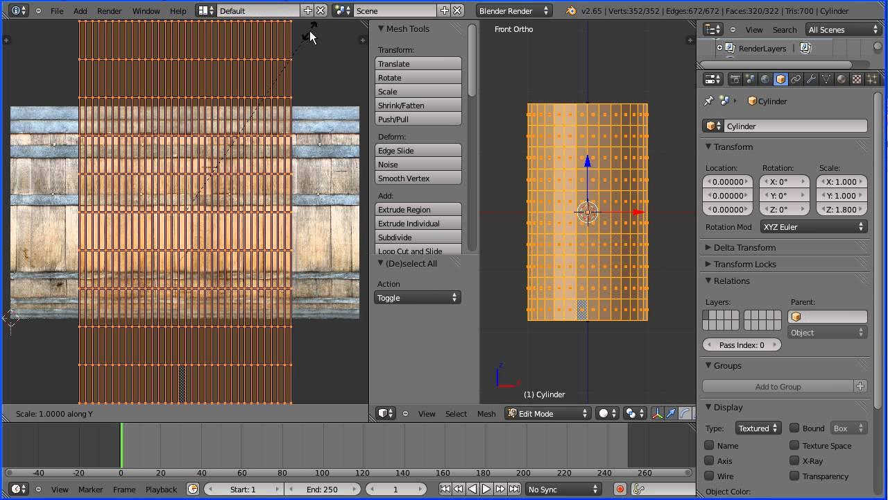 Blender 2 6 Character Modeling Tutorial : Blender tutorial making a wooden barrel part