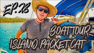 Boat Tour - Island Packet Cat 35 (Sailing Blue Moon) Ep. 28