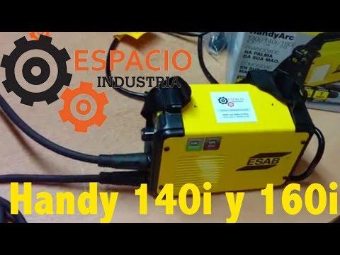 Soldadora Inverter Esab Conarco Handy 160i y 140i